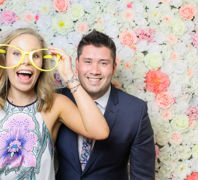 Photo Booth Newcastle Flower Wall