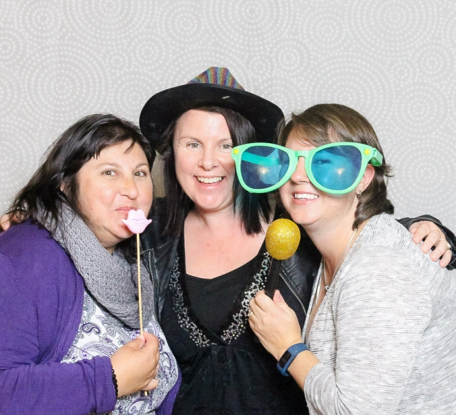 Photo Booth Newcastle Textured Dots Silver Backdrop